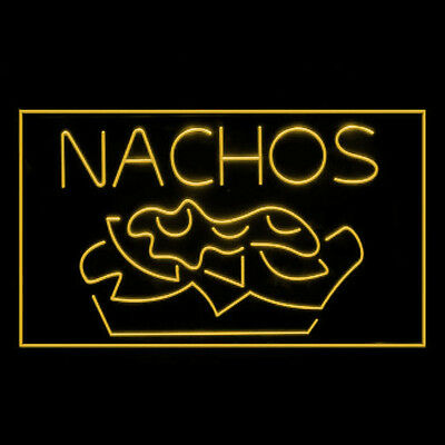 110099 Nachos Mexican Chili Tapas Quesadilla Food Tequila Crispy LED Light Sign