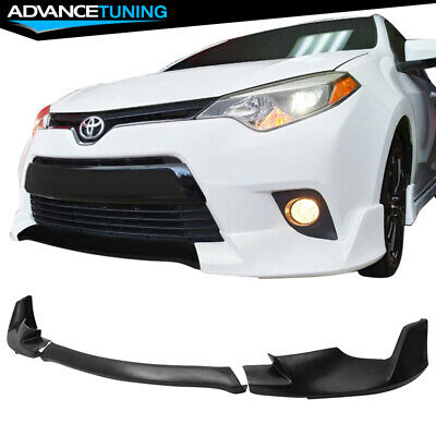 Fit 14-16 Toyota Corolla Base Model Front Bumper Lip 3 Pieces - PU Urethane