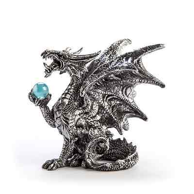 Mystical Black Dragon with Blue Ball 11cm