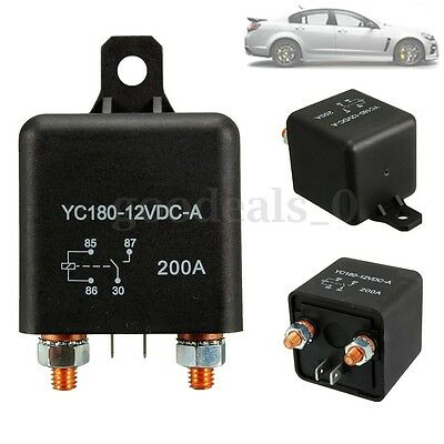 12V 200A Heavy Duty Split Charge ON/OFF Switch Relays Relé Car Auto Boat 200Amp
