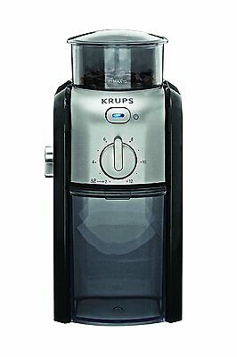 KRUPS GVX212 Coffee Grinder with Grind Size and Cup Selection and Stainless Flat