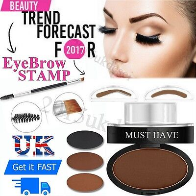 Eyebrow Shadow Makeup Brow Stamp Powder Brown Grey Palette Cosmetic Sponge Shape