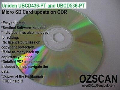 Uniden UBCD436PT UBCD536PT Update your SD Card CDR - NSW GRN including the RFS