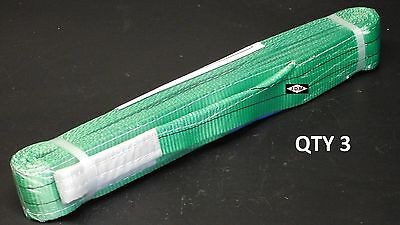 14Ton Towing Strop/Strap - 4 Meter in Length - QTY 3