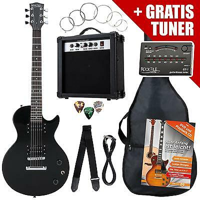 Electric Guitar Pack Amplifier Tuner Gigbag Strings Picks Strap Jack Cable Set