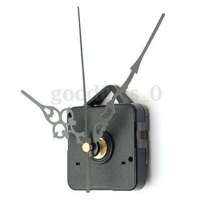 DIY Wall Quartz Clock Black Hands Spindle Movement Mechanism Repair Tool Replace