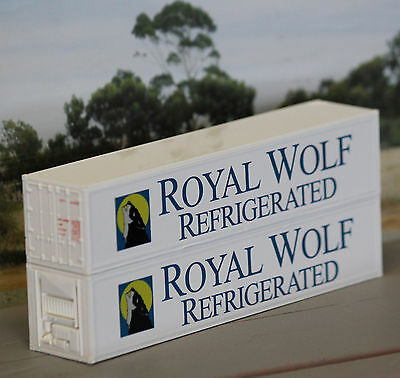 Two ROYAL WOLF REFRIGERATION 40ft containers in HO scale - new