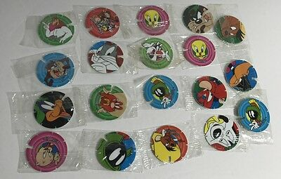 Original Looney Tunes Techno Tazos Bulk Lot Of Factory Sealed Original Wrapper