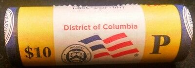 """2009-P District of Columbia Territorial Quarter """"Beautiful"""" Yellow Coin Roll DC"""