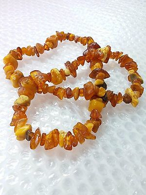 Genuine Pure AMBER Stone Necklace Vintage Antique Baltic Jewelry RARE 75gr 70cm