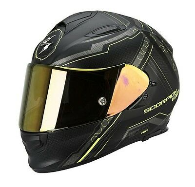 Scorpion EXO 510 Sync Matt Black / Yellow Full Face Motorcycle Motorbike Helmet