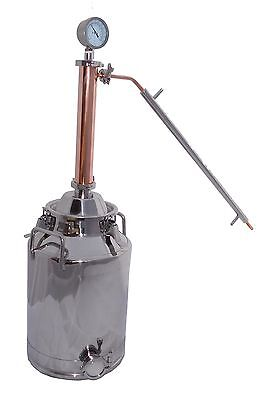 "8 Gallon Moonshine Still with 2"" Copper & Stainless Whisky Column, Moonshine"