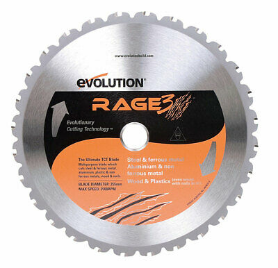 "Evolution Saw Blade 10 "" Dia 28 Teeth 1 "" Steel 0.078 """