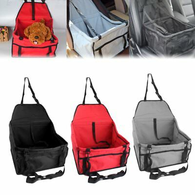 Folding Dog Cat Puppy Pet Car Seat Carrier Safety Belt Cover Travel Booster Bag