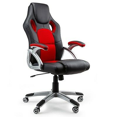 Black/Red A Executive Racing Office Chair