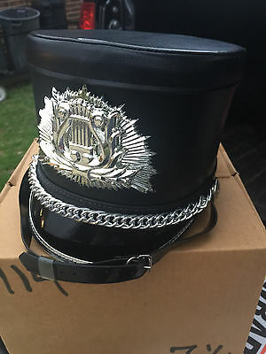 Black & Silver Fruhauf Marching Band Hat
