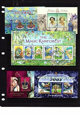 AUSTRALIA 2001/2013 Collection of 23 Different M/Sheets Fine/Used BIN1639
