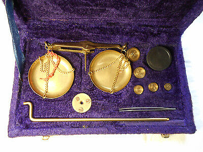 Vintage Travelling Scales with Weights