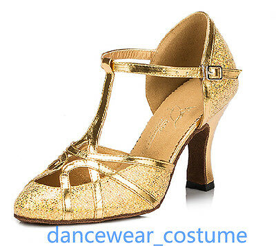 Ladies Party Ballroom Latin Tango Salsa Dance Shoes Heels Sandals 6cm US7.5 A00