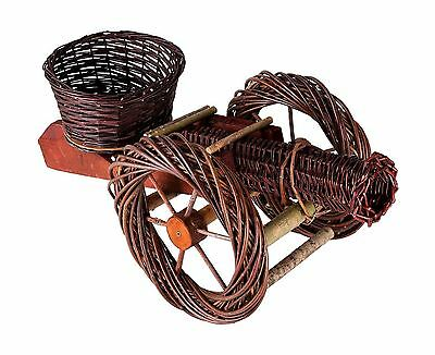 Handmade Wicker Cannon Garden Flower Pot Basket - Hand Made 100% Natural - 71...