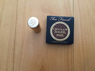 TOO FACED Miniature Chocolate soleil  NEUF +rouge  miniature  Naked dolly neuf