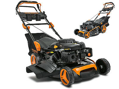 HQ Petrol Lawn Mower 6.5HP Self propelled  Cut Collect Mulch 4-STROKE 196cc 4in1