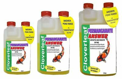 Cloverleaf Permanganate Answer Pond Koi Wound Ulcer Fin Rot Argulus Anti Septic