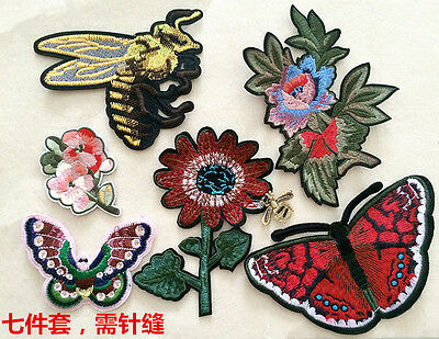 Patches Large Butterfly flower sew Applique sequins cloth accessory embroidery