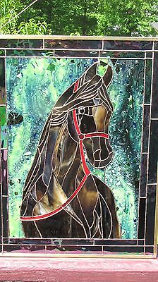 Stained Glass Window Panel Suncatcher Horse