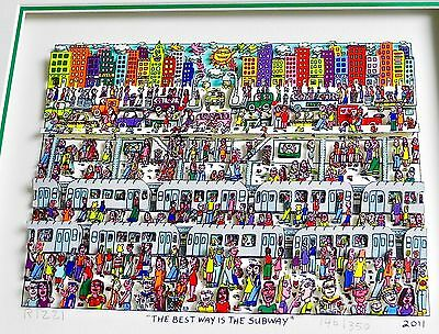 Original James Rizzi 3D Bild The Best Way Is The Subway Handsigniert&nummeriert