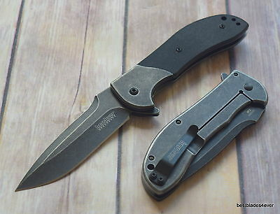 Kershaw Scrambler Spring Assisted Knife With Pocket Clip **razor Sharp** Blade