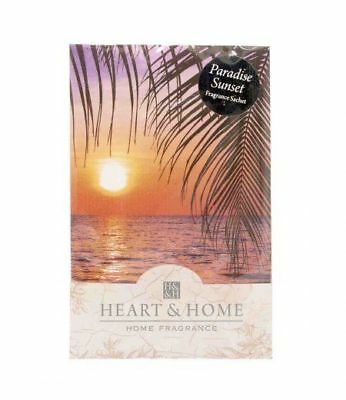 Pack of 6 Heart and Home Paradise Sunset Large Scented Sachet with Hanger