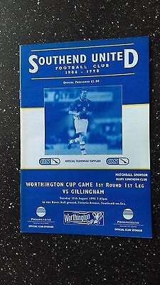 Southend United V Gillingham 1998-99