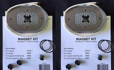 """Two (2) K71-105 Replacement 12"""" Electric Trailer Brake Magnet Kits"""