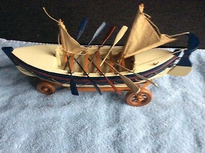 Nauticalia (london) Collectable Vintage Wooden Lifeboat
