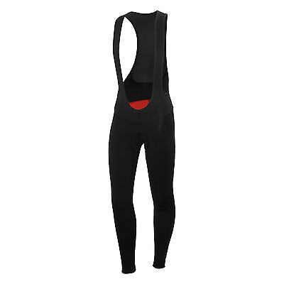 Castelli Meno Wind Men's Cycling Bib Tights Black/Red Small