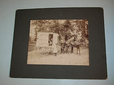 "antique PEARL METLER ""DAIRY FARM"" HORSE PULLED WAGON PHOTO~KNOXVILLE,TN~ MUST C"