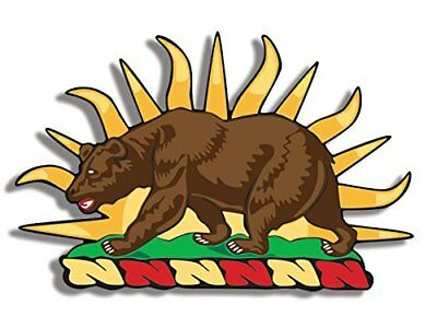 3x5 inch SHAPED California Bear Military Sticker - reserve insignia state local