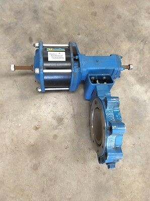 "DEZURIK IH0817 6"" 150 BUTTERFLY VALVE 316 SS With  ACTUATOR"
