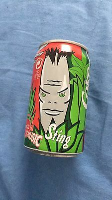 Sting The Police Exclusive Series Coca Cola Can Sting's Design Empty Promo No Cd