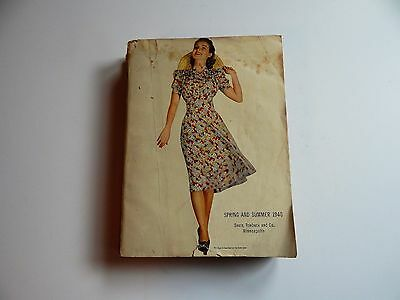 Vintage SEARS and Roebuck Catalog Spring and Summer  1940