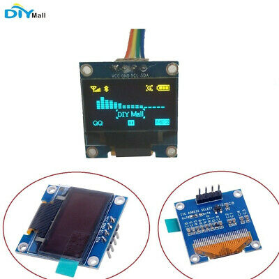 "DIYmall  Yellow and Blue 0.96"" Inch IIC Serial 128X64 OLED Display LCD Module"