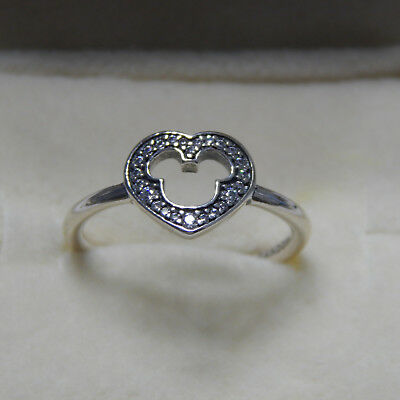 e1afc8d35 New Authentic Pandora Ring Disney Mickey Silhouette SZ 54 190957CZ Box  Included