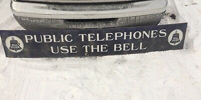 Rare Early Large Bell Telephone Sign