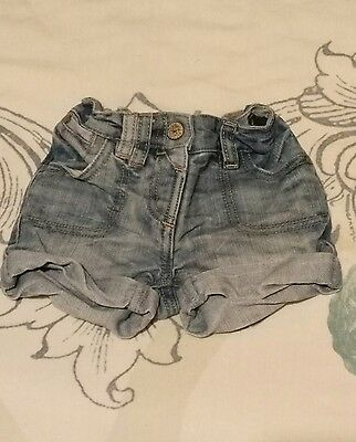 girls denim shorts 12-18 months next