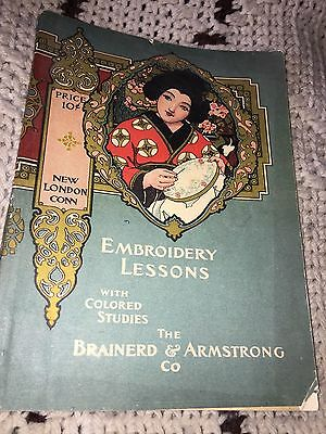 1902 Embroidery Lessons With Color Studies Brainerd & Armstrong Co