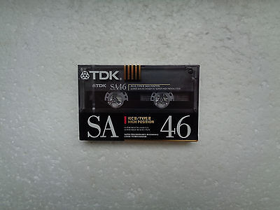 Vintage Audio Cassette TDK SA 46 * Rare Europe Version Japanese Duration 1990 *