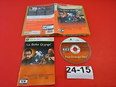 Orange Box [Complete CIB] (Microsoft Xbox 360) Tested & Working