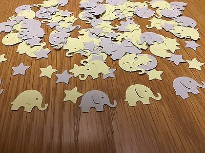 150 Grey And Yellow Elephant And Stars Baby Shower/Christening Table Confetti