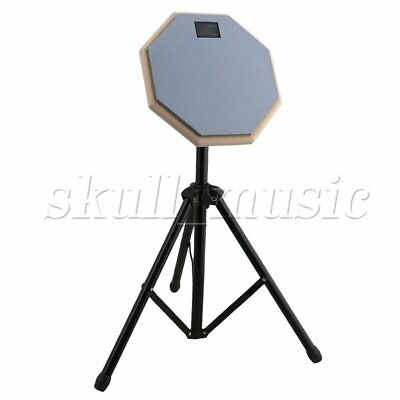 20x20x0.7cm BQLZR Portable Practice Training Drum Pads & Adjustable Stand Set